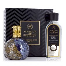Ashleigh & Burwood Fragrance  Lamp Gift Set - Masquerade & Fresh Linen Lamp Oil